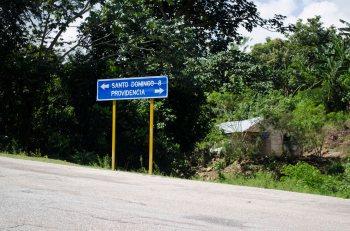 Aquí empieza el camno desde Providencia hacia Santo Domingo